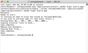 macos-high-sierra-terminal-create-bootable-installer